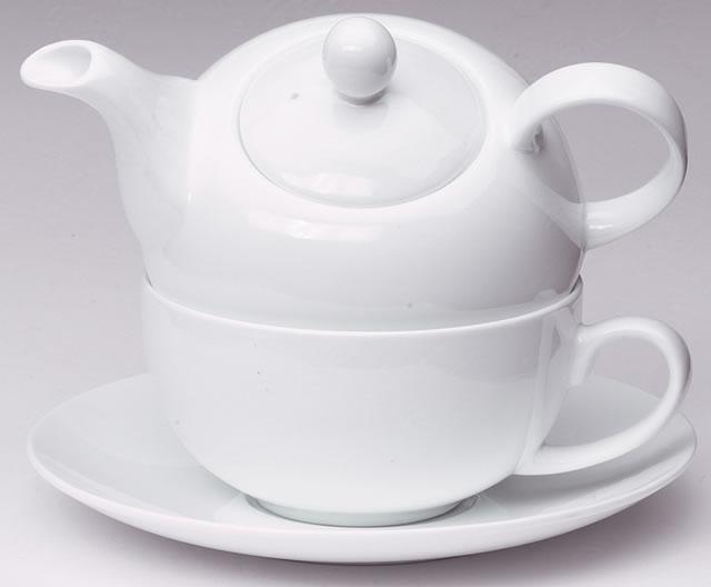 Čaj pro jednoho - souprava. Čistě bílá.