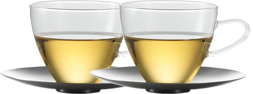 Skleněný šálek a podšálek 0,3l 2ks. Concept Tea