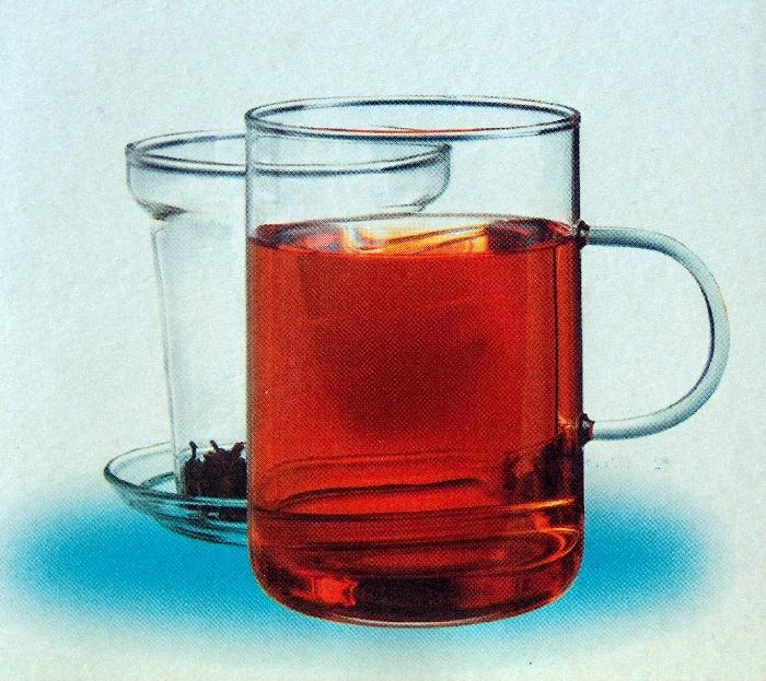 Šálek skleněný 0,25l. Skleněný filtr.