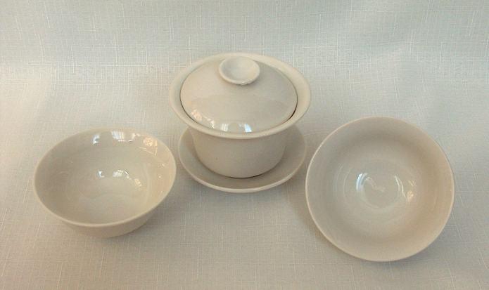Bílá souprava (zhong + 2 misky)